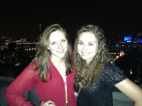 Me and Hanna on the roof